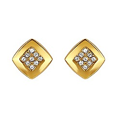 Adore - Square stud earring created with Swarovski crystals