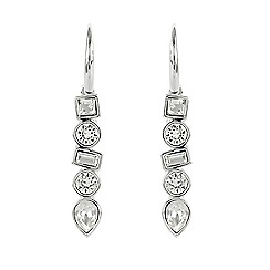 Adore - Multi shape drop earring created with Swarovski crystals