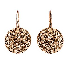 Adore - Metallic pave disc earring created with Swarovski crystals