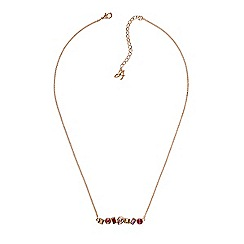 Adore - Multi shape bar necklace created with Swarovski crystals