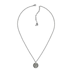 Adore - Metallic pave disc necklace created with Swarovski crystals