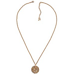 Adore - Metallic large pave disc necklace created with Swarovski crystals