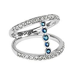 Adore - Metallic bar ring made with Swarovski