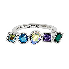 Adore - Multi shape ring made with Swarovski