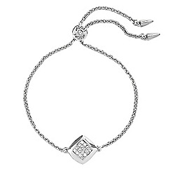 Adore - Pave square toggle bracelet created with Swarovski crystals