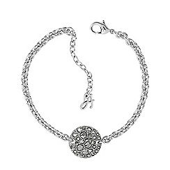 Adore - Metallic pave disc bracelet created with Swarovski crystals