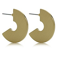 Principles by Ben de Lisi - Designer gold chunky hoop earring