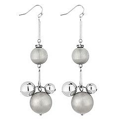 Principles by Ben de Lisi - Designer silver orb drop earrings