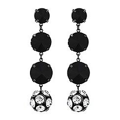 Principles by Ben de Lisi - Designer pave ball jet bead earrings