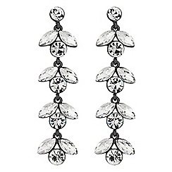 Principles by Ben de Lisi - Designer floral crystal droplet earrings