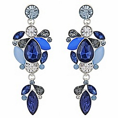 Principles - Designer crystal cluster drop earrings