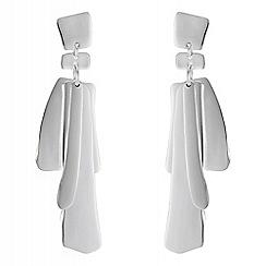 Principles - Designer layered shape drop earrings