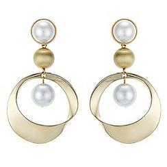 Principles - Pearl hoop earrings