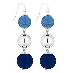 Principles - Designer blue orb drop earrings
