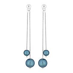 Principles - Designer double pearl drop earrings
