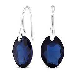 Principles - Designer oval crystal earrings