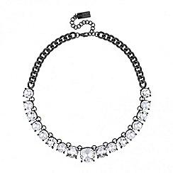 Principles by Ben de Lisi - Designer crystal set hematite link necklace