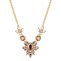 Principles by Ben de Lisi - Designer coral cluster drop necklace