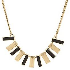 Principles by Ben de Lisi - Designer polished gold and jet stick drop necklace