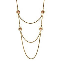 Principles by Ben de Lisi - Designer gold orb rope necklace