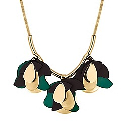 Principles - Designer abstract floral droplet necklace