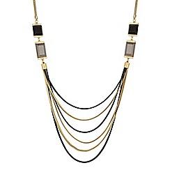 Principles by Ben de Lisi - Designer crystal square multi row necklace