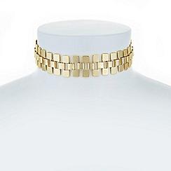 Principles by Ben de Lisi - Designer gold link choker necklace