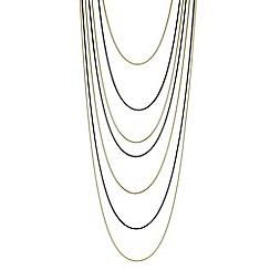 Principles by Ben de Lisi - Designer multi tone multi row necklace