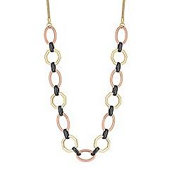 Principles by Ben de Lisi - Designer geometric link long necklace