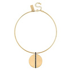 Principles by Ben de Lisi - Designer circle drop torque necklace