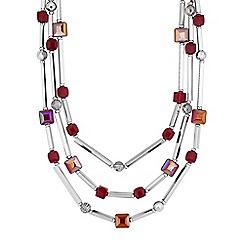 Principles by Ben de Lisi - Designer cube beaded multi row necklace