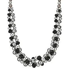 Principles by Ben de Lisi - Designer jet facet bead necklace