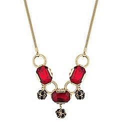 Principles by Ben de Lisi - Designer red facet crystal drop necklace