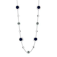 Principles - Designer blue orb rope necklace