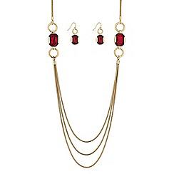 Principles by Ben de Lisi - Designer red facet crystal jewellery set