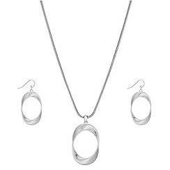 Principles - Designer oval twist jewellery set