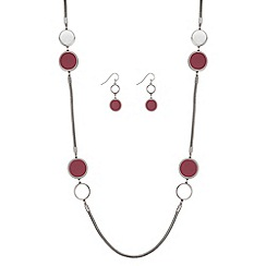 Principles - Designer disc link jewellery set