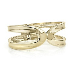 Principles - Designer gold cut out bangle