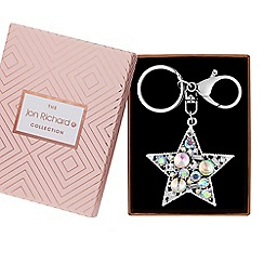 Jon Richard - Crystal star keyring in a gift box