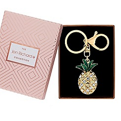 Jon Richard - Crystal pineapple keyring in a gift box