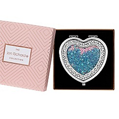 Jon Richard - Crystal shaker heart compact in a gift box