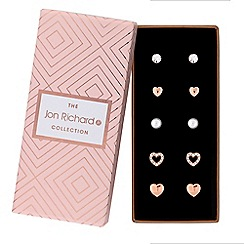 Jon Richard - Heart and pearl earrings set in a gift box