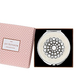 Jon Richard - Cream pearl compact in a gift box