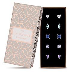 Jon Richard - Blue crystal ombre stud earring set