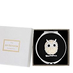 Jon Richard - Pearl owl compact mirror