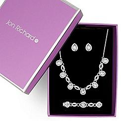 Jon Richard - Crystal peardrop jewellery set