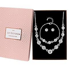 Jon Richard - Crystal halo jewellery set in a gift box