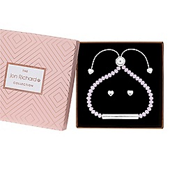 Jon Richard - Beaded toggle bracelet and earrings set in a gift box