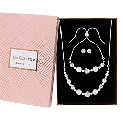 Jon Richard - Pave ball and pearl jewellery set in a gift box