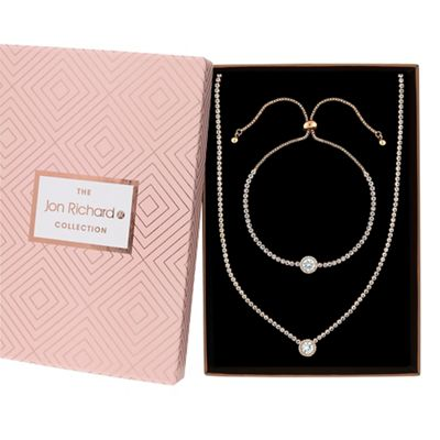 Jon Richard   Crystal Halo Jewellery Set In A Gift Box by Jon Richard